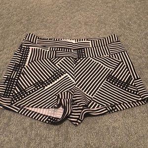 Black/nude checkered shorts